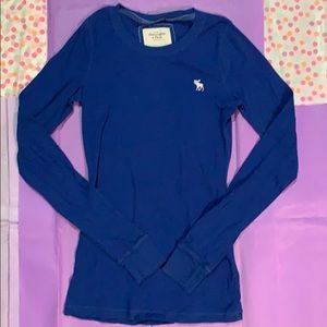 Abercrombie & Fitch cobalt blue long-sleeve